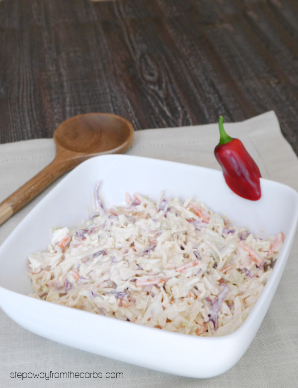Low Carb Chipotle Coleslaw - a smoky and spicy keto-friendly side dish recipe