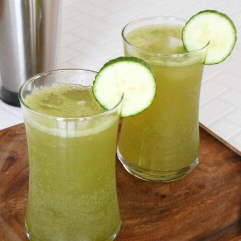 Low Carb Cucumber Gin Fizz