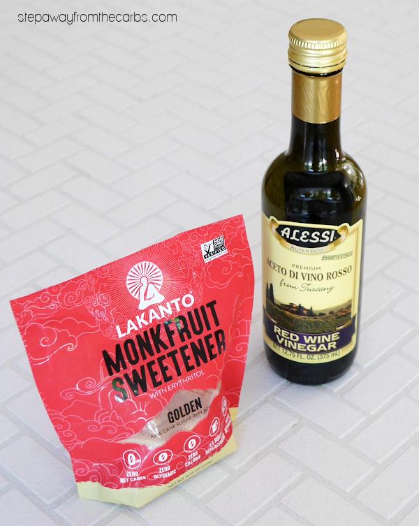 Zero Carb Balsamic Vinegar Alternative - a sugar-free and keto friendly substitute for the popular Italian condiment