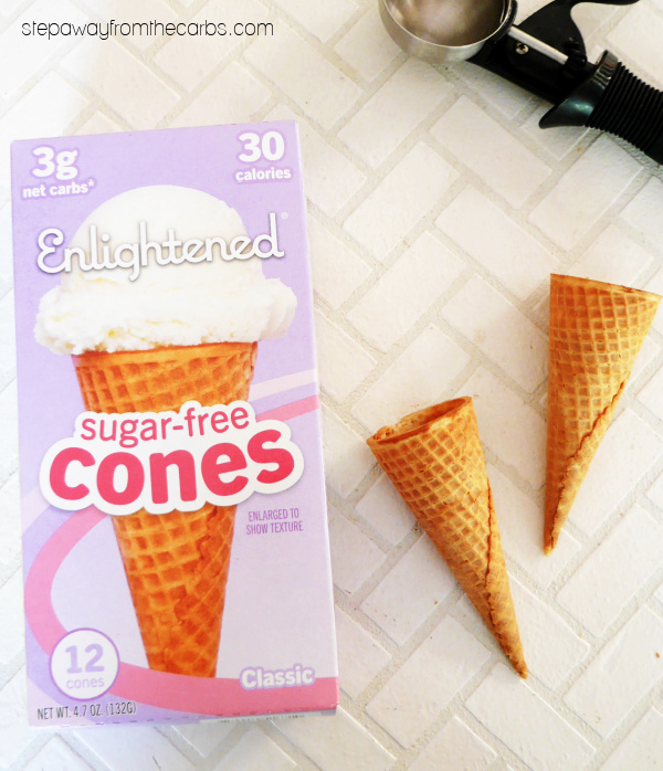 Low Carb Ice Cream Cones from Enlightened