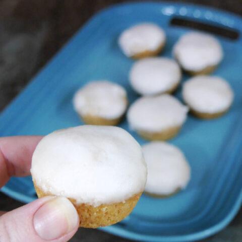 Low Carb Glazed Cake Bites