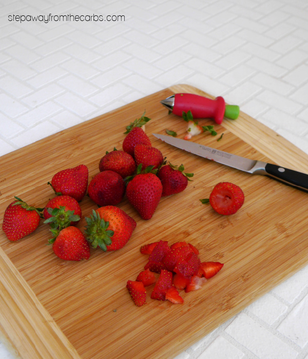 Low Carb Strawberry Sangria Dessert - a sugar-free and keto-friendly treat