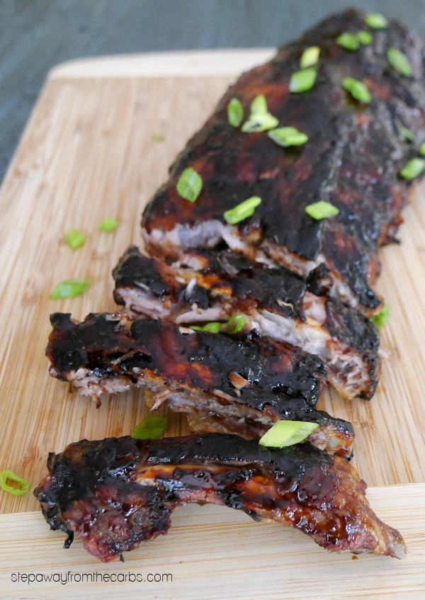 Low Carb Pork Ribs with a Tamarind Glaze - sugar free and keto friendly recipe