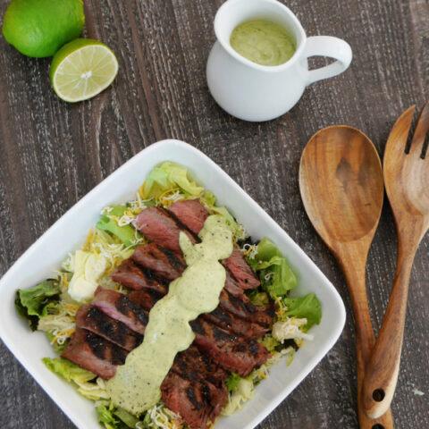 Tequila & Lime Marinated Steak Salad