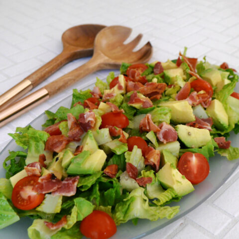 Keto Salad with Bacon Grease Dressing