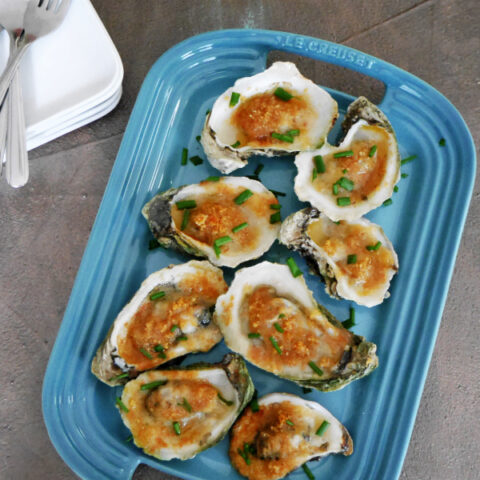 Low Carb Broiled Oysters