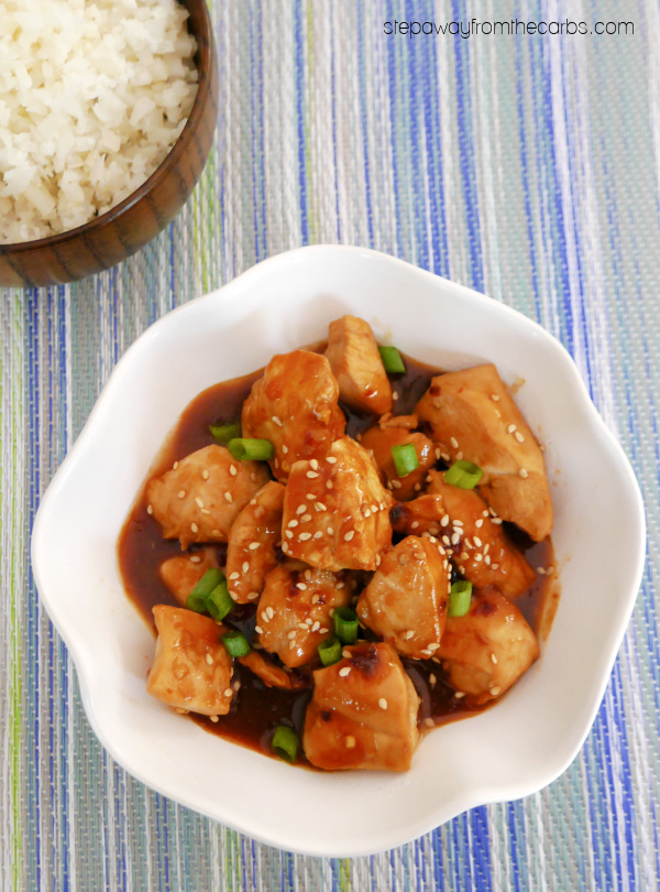 Low Carb Orange Chicken - a Panda Express copycat recipe that is sugar free and keto friendly!