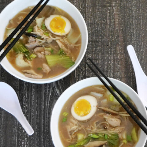 Low Carb Chicken Ramen with Palmini Noodles