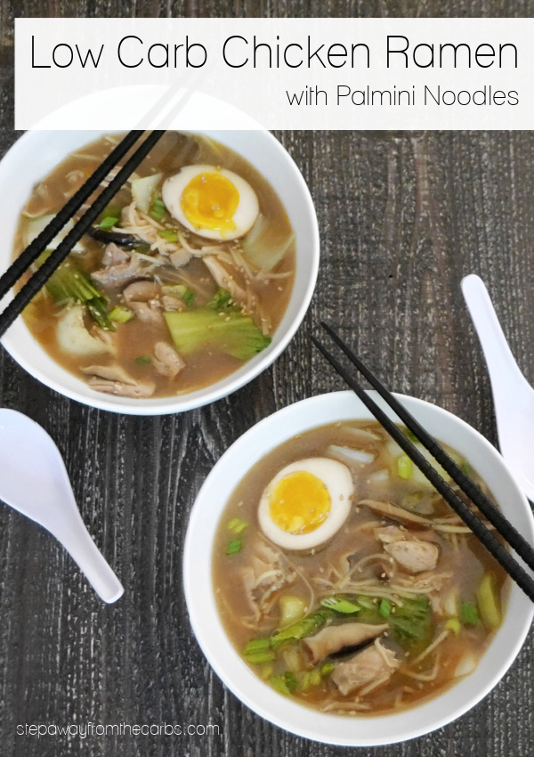 Low Carb Ramen with Chicken and Palmini Noodles - a keto friendly version of the classic Japanese soup