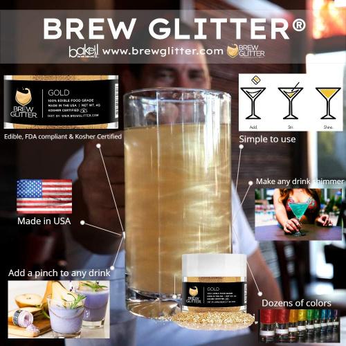 Brew Glitter - edible glitter for drinks