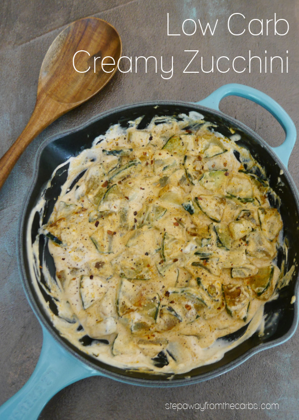 Low Carb Creamy Zucchini - a delicious side dish or vegetarian dinner recipe!