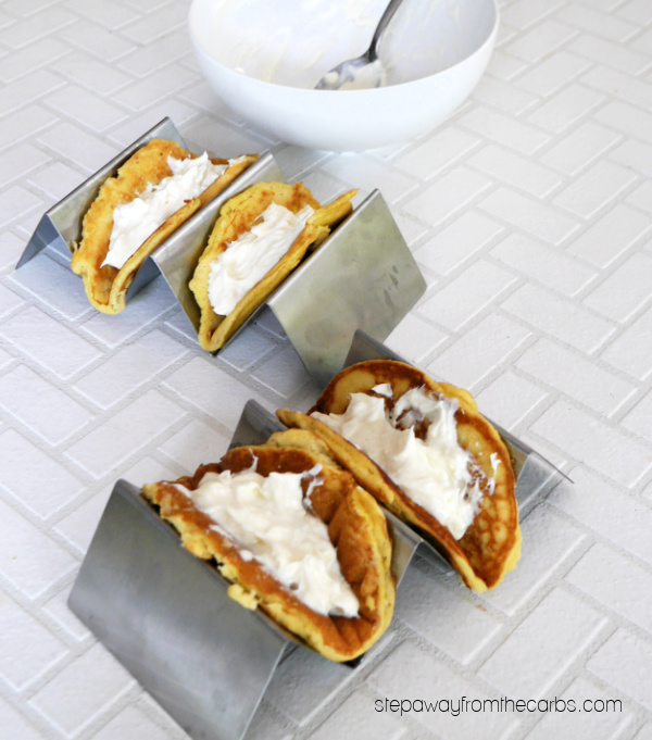 Low Carb Pancake Tacos - a family-friendly sugar-free brunch or dessert!